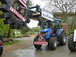 Lammertzhof-Traktor zur Anti-Kohle-Kette 2015