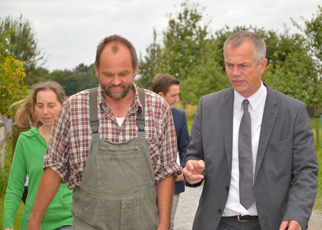 Heinrich Hannen im Gespräch mit NRW-Umweltminister Johannes Remmel