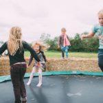 Kinder Trampolin Lammertzhof Hoffest 2015