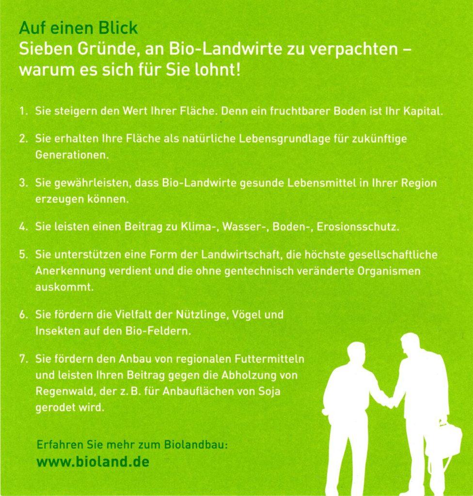 Sieben Gründe, an Bio-Landwirte zu verpachten - warum es sich für Sie lohnt! (c) Bioland e.V.